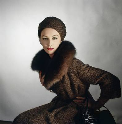 Photograph - Model In A Jablow Coat by Horst P. Horst