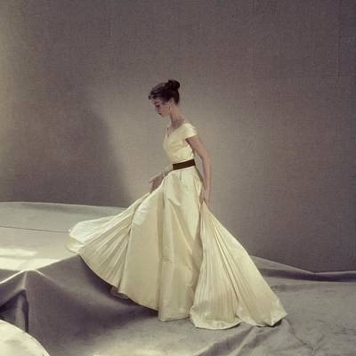 Photograph - Model In A Jacques Griffe Gown by Henry Clarke