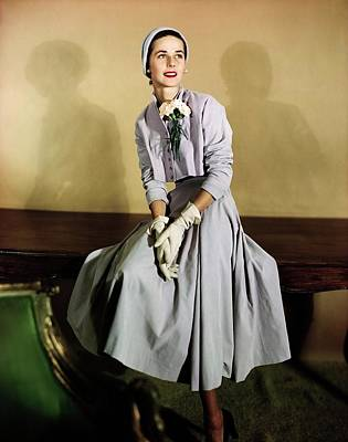 Photograph - Model In A Judy 'n Jill Suit by Horst P. Horst