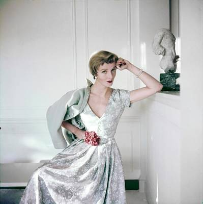 Photograph - Model In A Kane Weill Ensemble by Horst P. Horst