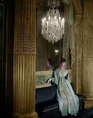 Photograph - Model In A Lanvin-castillo Dress by Henry Clarke