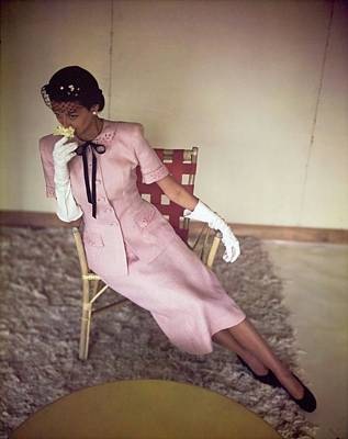 Photograph - Model In A Larry Aldrich Suit by Horst P. Horst