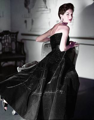 Photograph - Model In A Leslie Morris Gown by Horst P. Horst