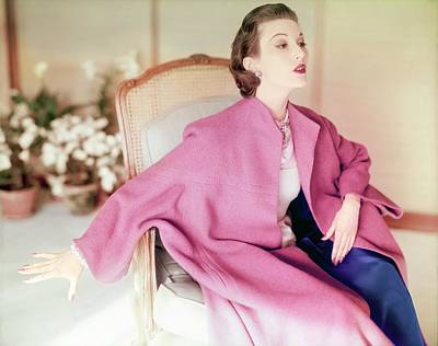 Photograph - Model In A Lo Bablo Coat by Horst P. Horst