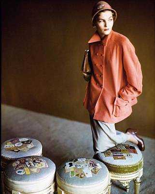 Photograph - Model In A Lo Balbo Coat by Horst P. Horst