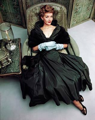 Photograph - Model In A Mark Mooring Dress by Horst P. Horst