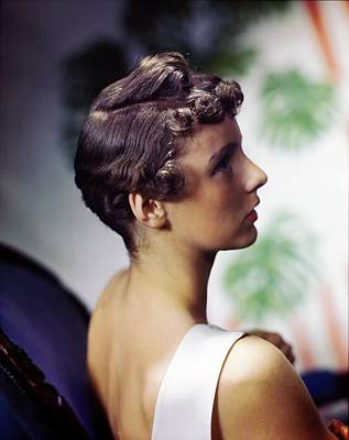 Photograph - Model In A Michel Coiffure by Horst P. Horst