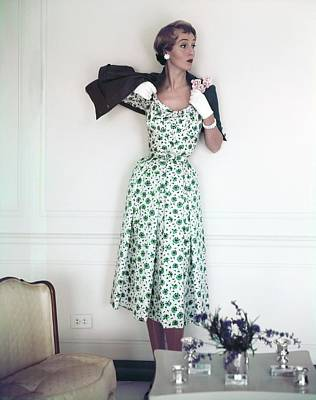 Photograph - Model In A Mollie Parnis Ensemble by Horst P. Horst