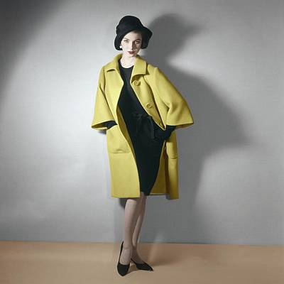 Photograph - Model In A Norman Norell Ensemble by Horst P. Horst