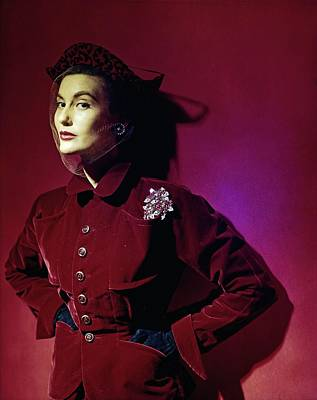 Photograph - Model In A Red Kraus Jacket by Horst P. Horst