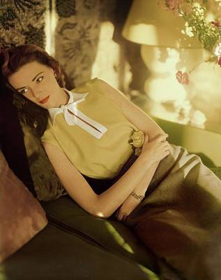 Photograph - Model In A Sidney Heller Blouse by Horst P. Horst