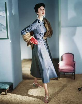 Photograph - Model In A Sophie Original Dress by Horst P. Horst