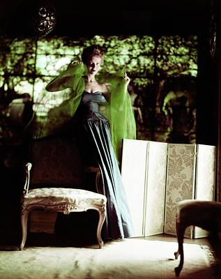 Photograph - Model In A Sophie Silk Gown by Horst P. Horst