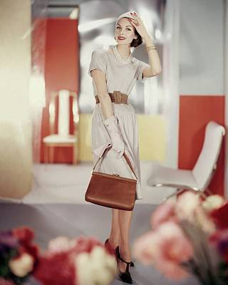 Photograph - Model In A Traina-norell Dress by Horst P. Horst