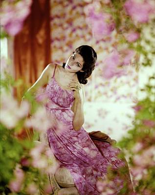 Photograph - Model In A Vanity Fair Nightgown by Horst P. Horst