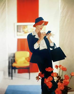 Photograph - Model In A Vogue Pattern Suit by Horst P. Horst