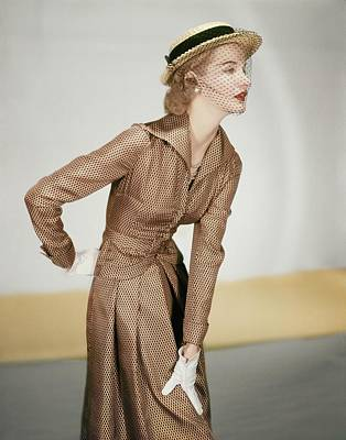 Photograph - Model In A Vogue Patterns Suit by Horst P. Horst