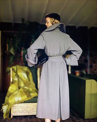 Photograph - Model In An Alex Maguy Coat by Horst P. Horst