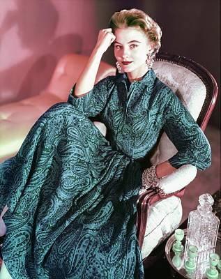 Photograph - Model In An Anne Fogarty Dress by Horst P. Horst