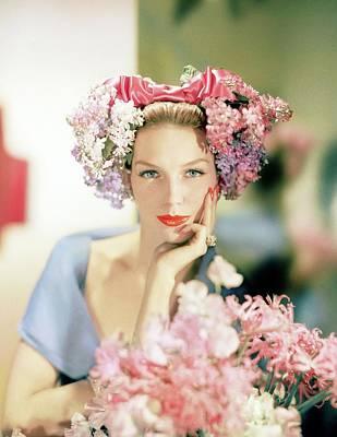 Photograph - Model In An Emme Headdress by Horst P. Horst