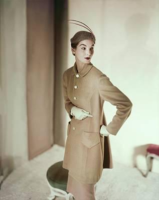 Model In An Originala Suit Art Print by Horst P. Horst