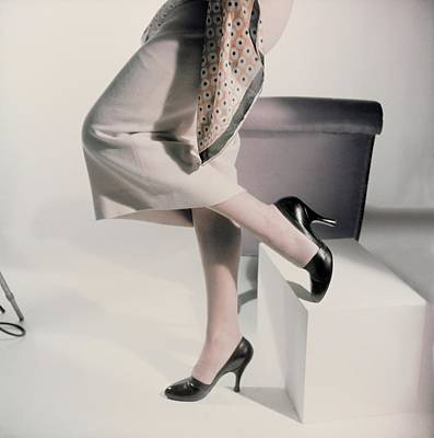 Photograph - Model In Black Levine Pumps by Horst P. Horst