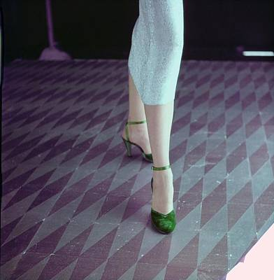 Photograph - Model In Palter Deliso Sandals by Horst P. Horst