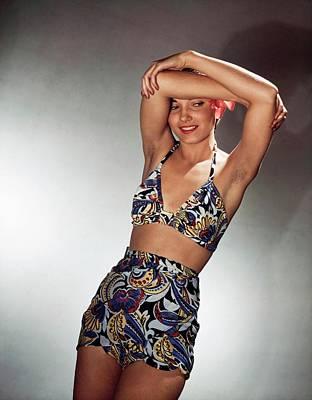 Photograph - Model In Saks Fifth Avenue Bikini by Horst P. Horst