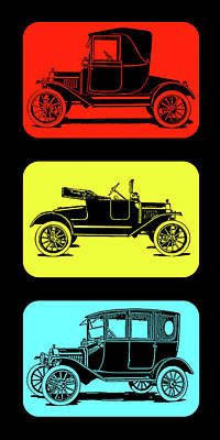 Digital Art - Model T Ford Triple by David King
