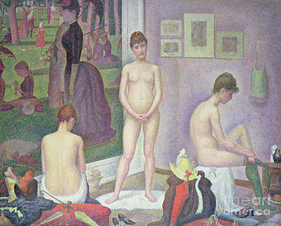 Painting - Models By Seurat by Georges Pierre Seurat