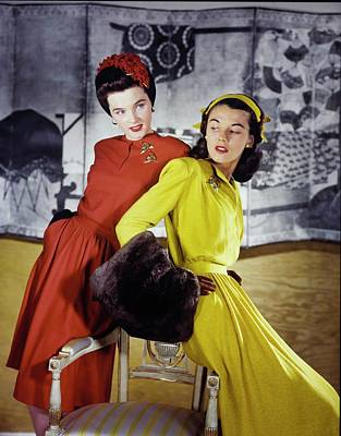 Photograph - Models In B.h. Wragge by Horst P. Horst