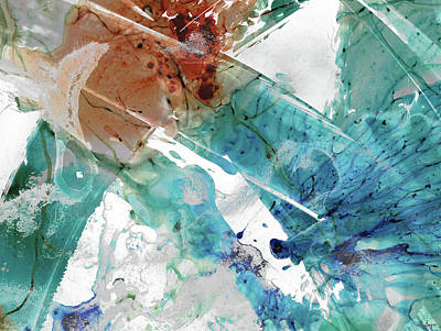 Painting - Modern Abstract Art - Just In Time - Sharon Cummings by Sharon Cummings