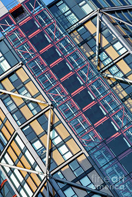 Photograph - Modern Apartment Architecture Abstract by Tim Gainey