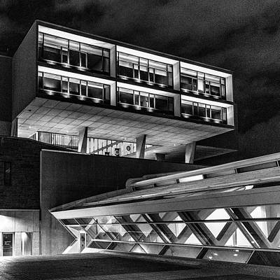 Photograph - Modern Architecture Monochrome by Randy Scherkenbach