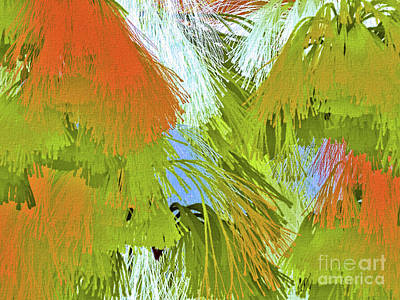 Digital Art - Modern Art   Tropical Flare  Abstract by Elaine Manley