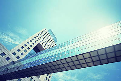 Photograph - Modern Building With A Skywalk by Rike