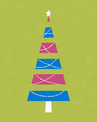 Digital Art - Modern Glam Christmas Tree 3- Art By Linda Woods by Linda Woods