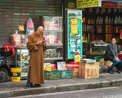 Photograph - Modern Monk, Shanghai by Jeff Lucas