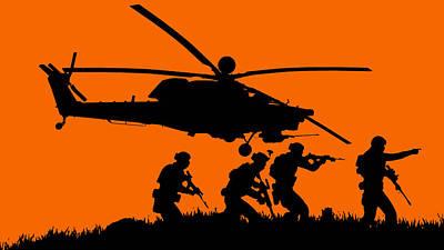 Painting - Modern Warfare - 02 by Andrea Mazzocchetti