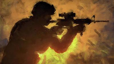 Painting - Modern Warfare - 07 by Andrea Mazzocchetti