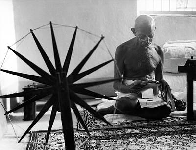 Photograph - Mohandas K. Gandhi by Margaret Bourke-white