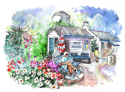Painting - Molly Malones Snack Kiosk In Paignton by Miki De Goodaboom