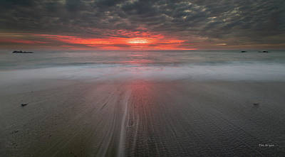 Photograph - Molten Sky Over The Sea by Tim Bryan