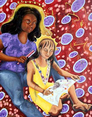 Painting - Mommy and Me by Cynthia Lizardi