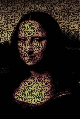 Painting - Mona Lisa Bubble Girl by Robert R Splashy Art Abstract Paintings