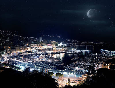Photograph - Monaco At Night by Da-kuk