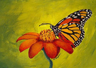 Painting - Monarch Butterfly by Mary Elizabeth Thompson