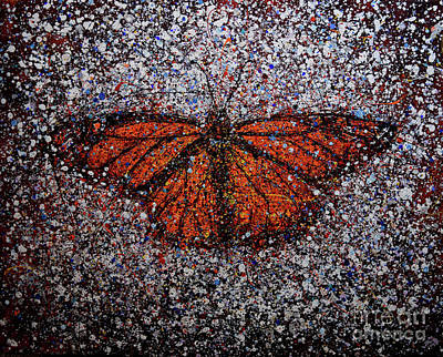 Painting - Monarch Summer 1-19 by Michael Glass