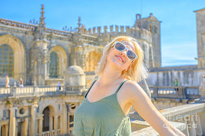 Photograph - Monastery In Tomar Enjoying by Benny Marty
