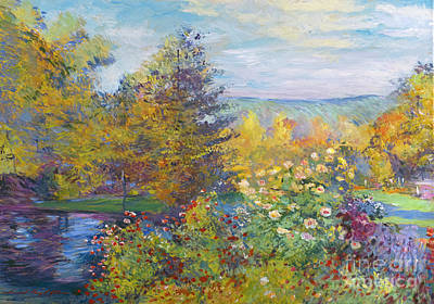Painting - Monet In The Park by David Lloyd Glover